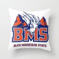 Blue Mountain State Throw Pillow