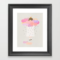The sweet clouds Framed Art Print