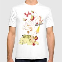 Tools For Playing Mens Fitted Tee White SMALL