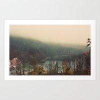 Overlooking The Lake Col… Art Print
