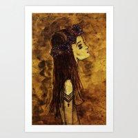 Rosehorn. Art Print