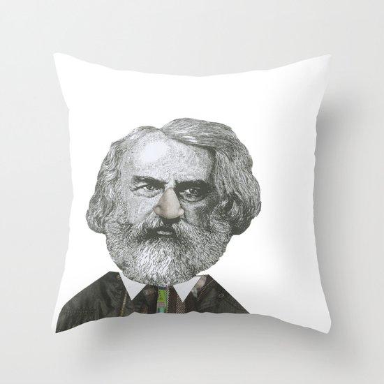 Mr Moody pants Throw Pillow