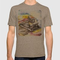 Vintage gadget series: Polaroid SX-70 Model 3 Land Camera Mens Fitted Tee Tri-Coffee SMALL