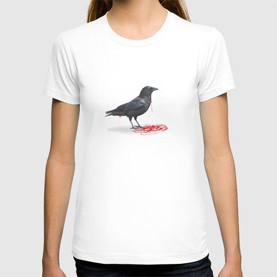 freedom  _ black crow T-shirt