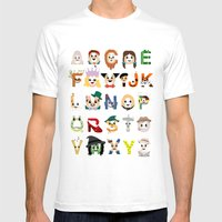 Oz-abet (an Oz Alphabet) Mens Fitted Tee White SMALL
