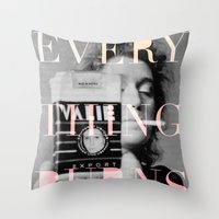 Every Thing Burns Throw Pillow