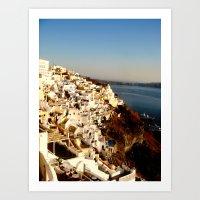 Santorini Coast Art Print