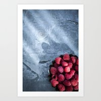Red Raspberries - Yummy!… Art Print