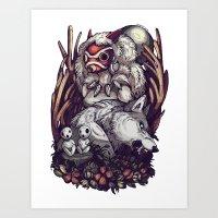 The Wolf Princess Art Print
