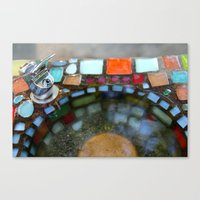 Mosiac Water Fountain Canvas Print