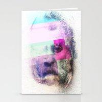 Glitch-face Stationery Cards