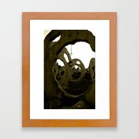 Screaming Lantern Framed Art Print
