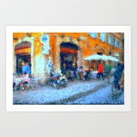 Cafe In Rome Art Print