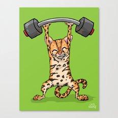 Ocelot Power Lifter Canvas Print