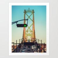 Urban Bridge Art Print