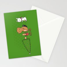 Beavers ruin Christmas Stationery Cards