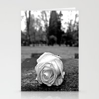 One last rose Stationery Cards
