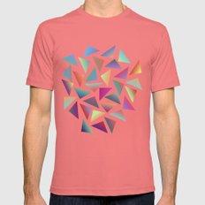 Geometric Pattern II Mens Fitted Tee Pomegranate SMALL
