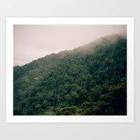 Foggy Hills Art Print