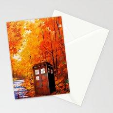 Tardis Autumn Art Painting Stationery Cards