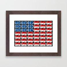 VW Stars & Stripes Framed Art Print