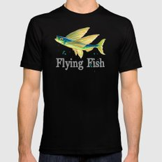 F is for Flying Fish Mens Fitted Tee Black SMALL