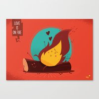 :::Love is on the fire::: Canvas Print