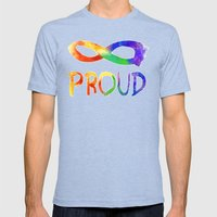 Forever Proud Mens Fitted Tee Tri-Blue SMALL
