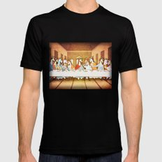 Last Supper Unicorn SMALL Black Mens Fitted Tee