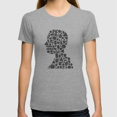 Untitled Silhouette in Reverse. Womens Fitted Tee Athletic Grey SMALL