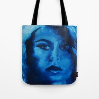 THE BLUE QUICK PORTRAIT Tote Bag