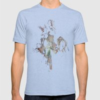 Flower Press Mens Fitted Tee Athletic Blue SMALL
