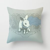 Fearless Creature: Rabz Throw Pillow