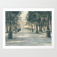 Art Print featuring Winter's Guardians by Oh, Good Gracious!