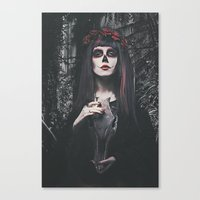 Catrina Day Of The Dead Canvas Print