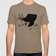 Sunday Mood Mens Fitted Tee Tri-Coffee SMALL