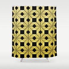Golden Snow Shower Curtain