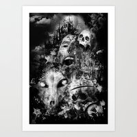 tortured souls Art Print