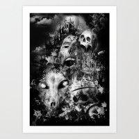 tortured souls Art Print