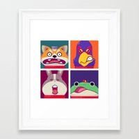 Star Fox Framed Art Print