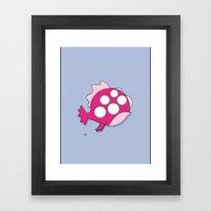 freak fish  Framed Art Print
