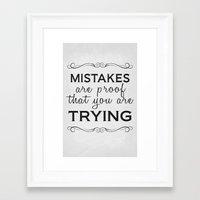 Mistakes Poster 01 Framed Art Print