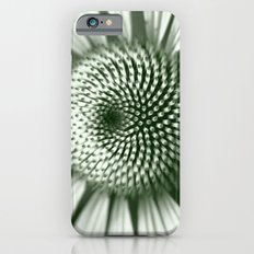Black and White Flower Core iPhone 6 Slim Case