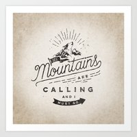 mountains Art Prints featuring Mountains by Seaside Spirit