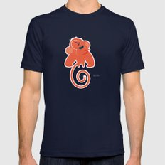 Angry moonkey  Mens Fitted Tee Navy SMALL