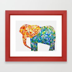 acute elephant Framed Art Print