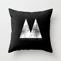 Twin Peaks, WA (White Lo… Throw Pillow