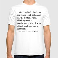 She Was A Hurricane Mens Fitted Tee White SMALL