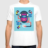 DJ Mens Fitted Tee White SMALL