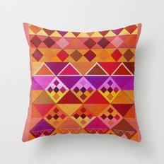Fire Diamond Pattern Throw Pillow